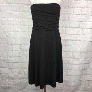 Ann Taylor Small Strapless A-Line Dress Black